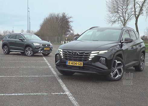 Nieuwe TUCSON verslaat Seat Ateca met grote overmacht in Dubbeltest AutoWeek