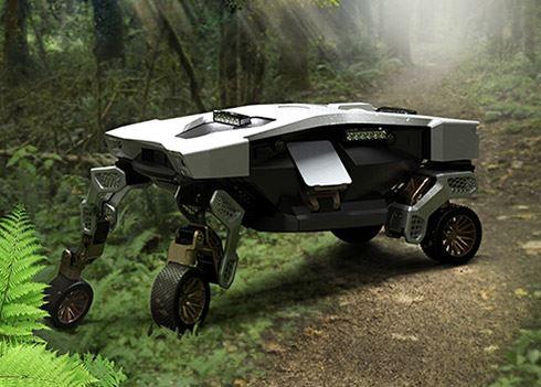 Dit is TIGER X-1, Hyundai's onbemande voertuig met robotpoten