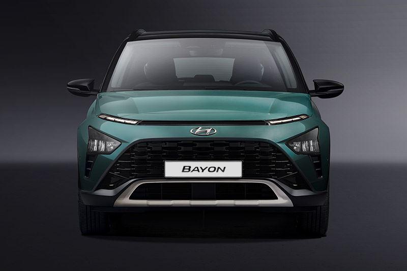 De skidplate onder de voorbumper accentueert het SUV-karakter van de Hyundai BAYON.