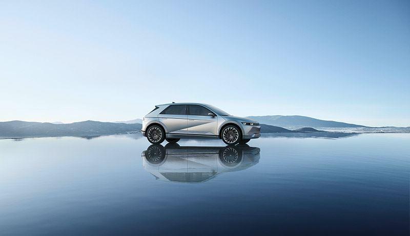 De IONIQ 5 is een van de volledig elektrische auto's van Hyundai.