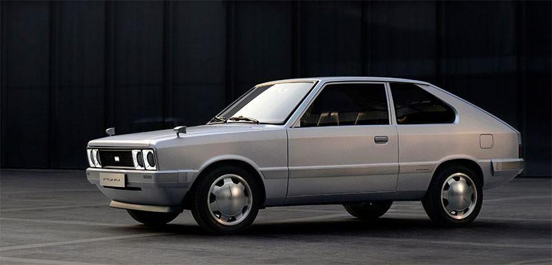 De Pony EV Heritage is een elektrische retro-versie van de originele Hyundai Pony Concept uit 1974.