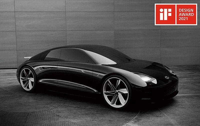 De concept car Hyundai Prophecy werd onderscheiden met een iF Design Award 2021.