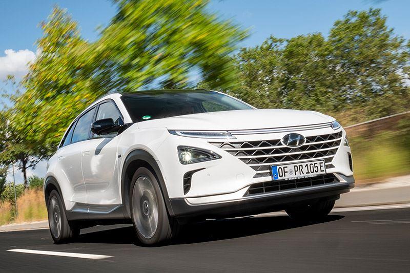 De Hyundai NEXO is een van de weinige waterstof-elektrisch aangedreven auto's ter wereld.