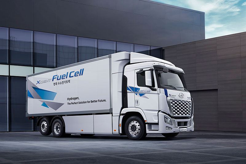 Waterstoftruck Hyundai XCIENT Fuel Cell.