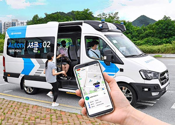 Hyundai houdt praktijkproef met 'RoboShuttle'-service in Korea