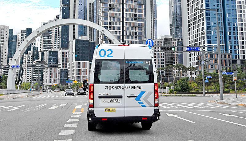 Passagiers kunnen de RoboShuttle-pendeldienst van Hyundai reserveren via de 'Shucle'-app.