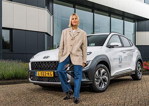 Nieuwe Hyundai KONA Hybrid voor Linda Tol