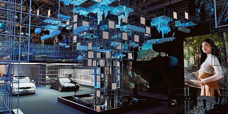 Hyundai op de IAA Mobility 2021 in Duitsland.
