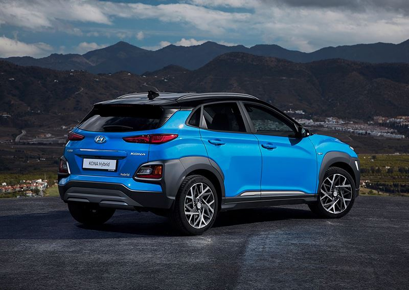 De nadruk bij de Hyundai KONA Hybrid ligt op een zo laag mogelijk benzineverbruik.