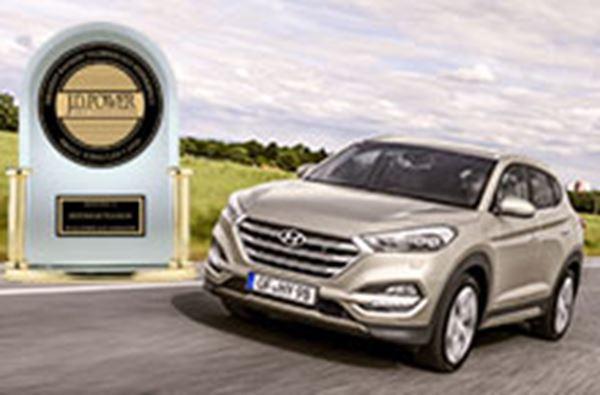 JD Power zet Hyundai Tucson op nummer 1