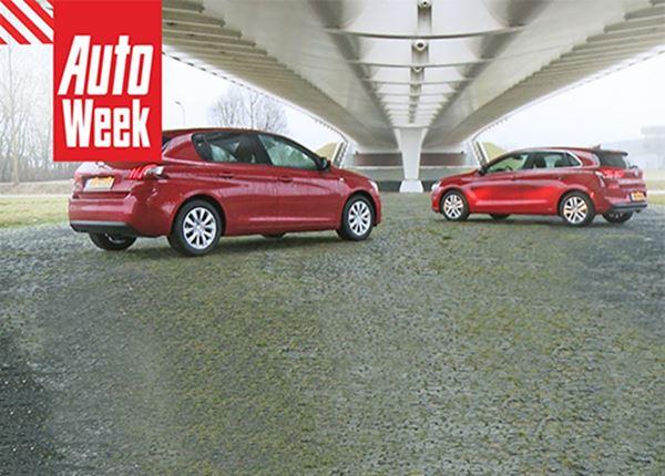 Nieuwe Hyundai i30 verslaat Peugeot 308 in dubbeltest AutoWeek