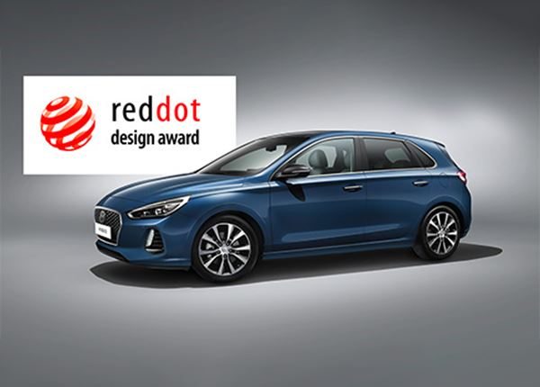 Nieuwe Hyundai i30 beloond met Red Dot Design Award