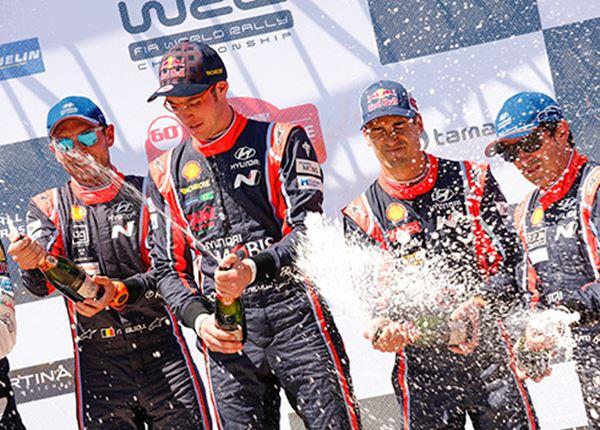 Hyundai grijpt WK-zege in Rally van Corsica