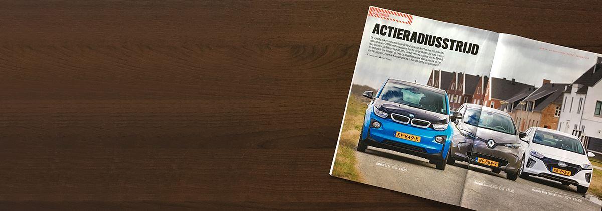 Hyundai IONIQ Electric verslaat BMW i3 en Renault Zoe in Triotest AutoWeek