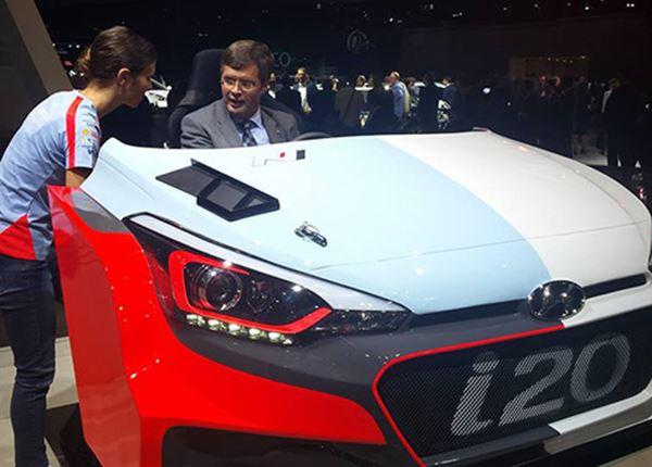 Jan Peter Balkenende test de Hyundai i20 WRC