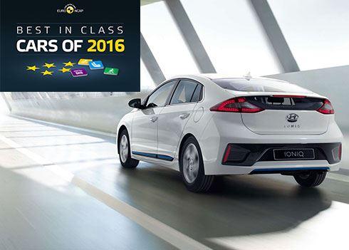 Hyundai IONIQ 'Best in Class' volgens Euro NCAP