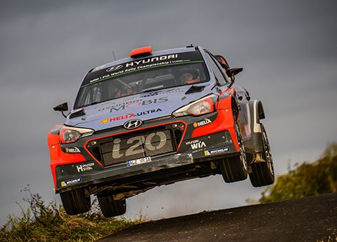 Rallyrijders Hyundai volop in de prijzen in Duitsland