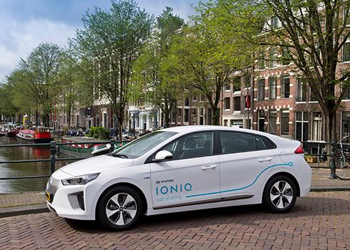 Hyundai start uniek Car Sharing-project met elektrische IONIQ in Amsterdam