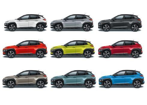 Welke kleuren krijgt jouw Hyundai KONA?