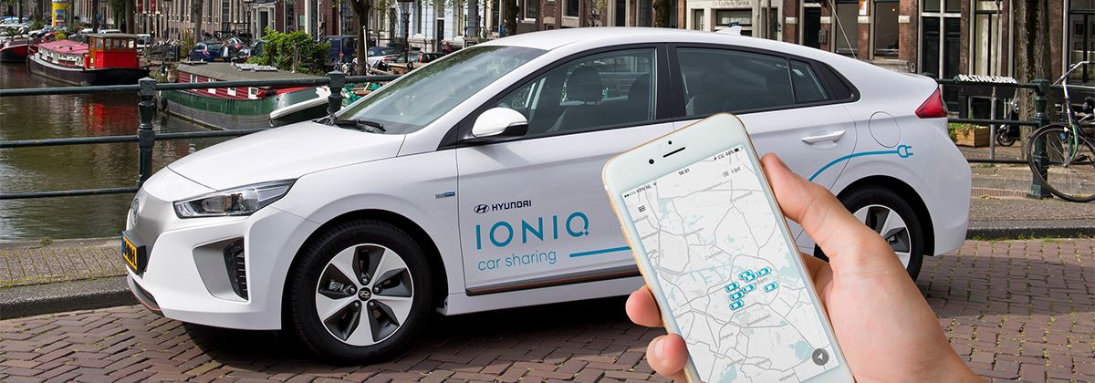 IONIQ Car Sharing-service van start in Amsterdam