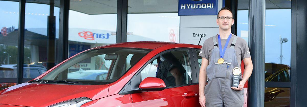 Gouden medaille Nederlandse Hyundai-technicus op World Skill Olympics