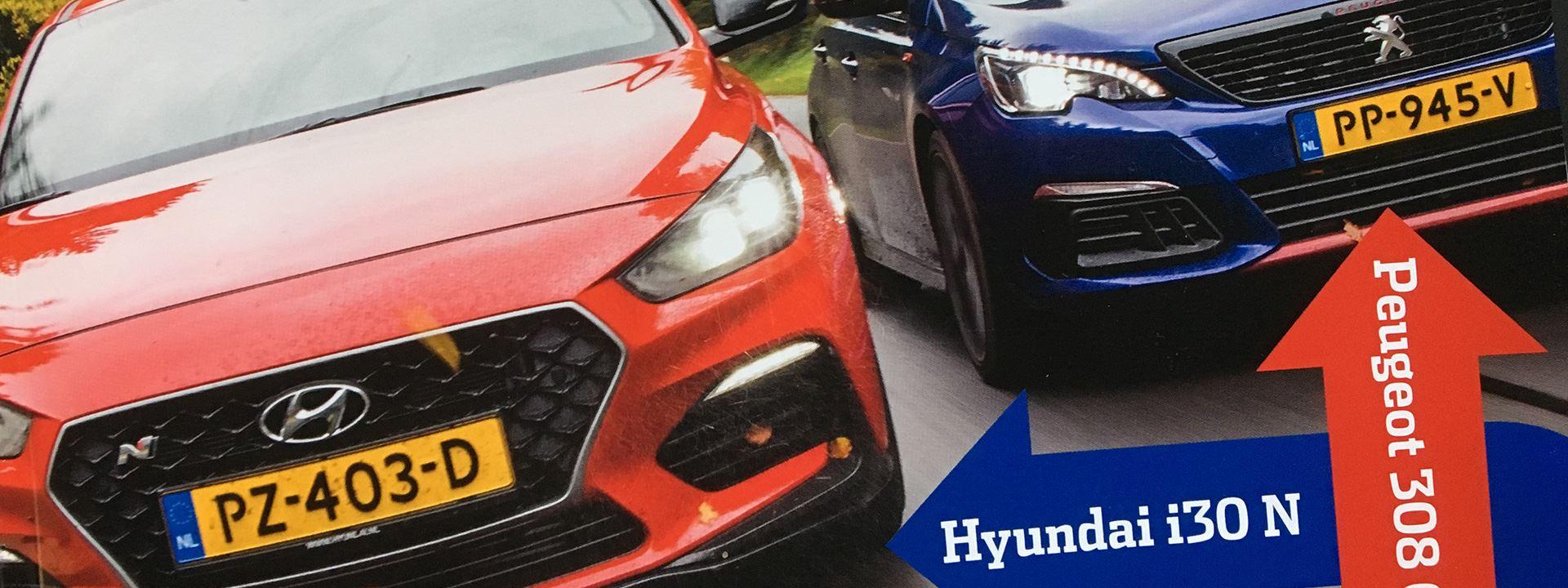 Autovisie: Rookie Hyundai i30 N verslaat ervaren Peugeot 308 GTI
