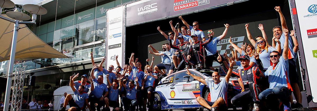En dat is vier! Hyundai wint Rally van Australië