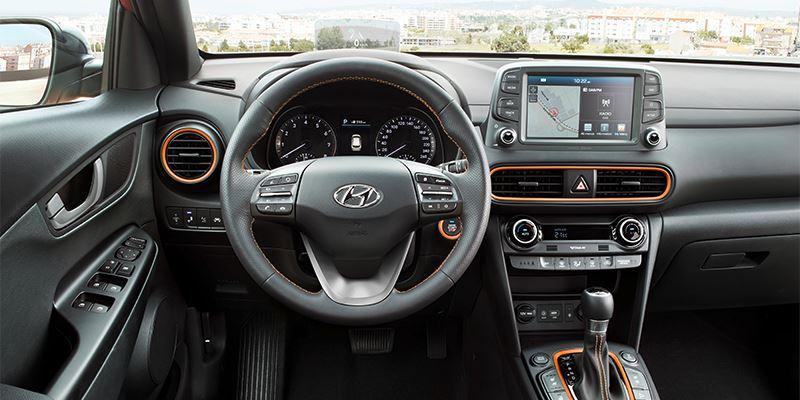 Hyundai KONA dashboard.
