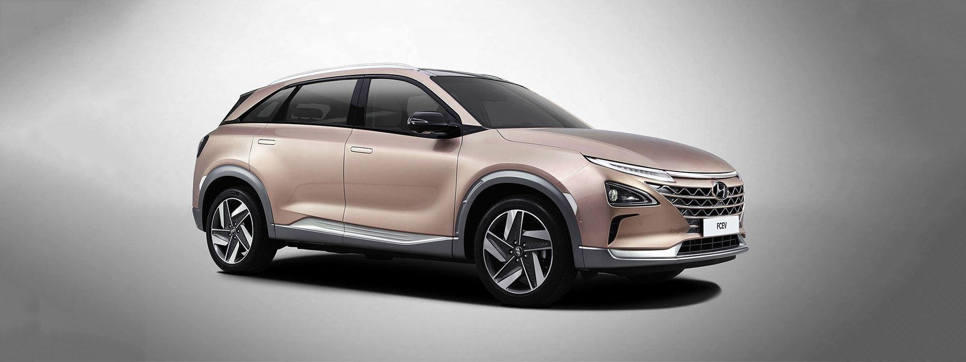 Nieuwe waterstofauto Hyundai op CES 2018