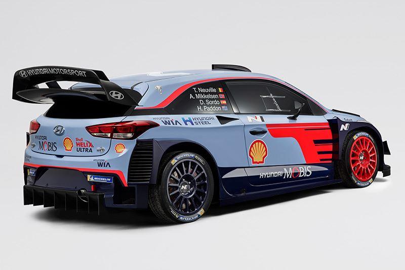 Dit is de nieuwe rallyauto Hyundai i20 WRC 2018