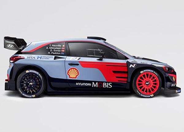 Spectaculair: de nieuwe rallyauto Hyundai i20 WRC 2018!