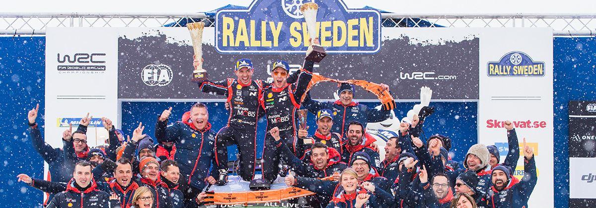Dubbelslag Hyundai in Rally van Zweden