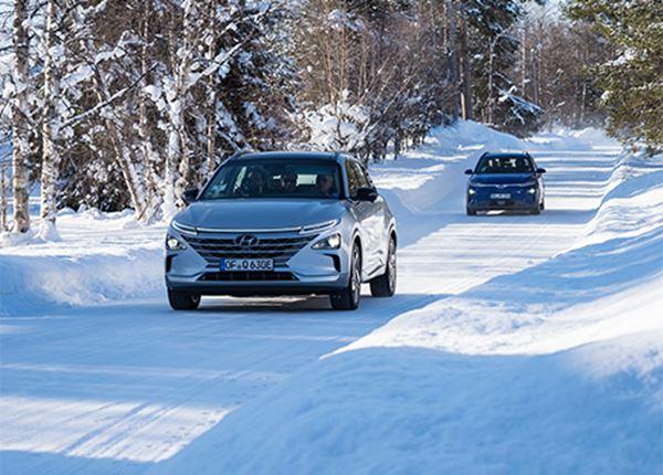 Extreme kou deert Hyundai KONA Electric en NEXO niet