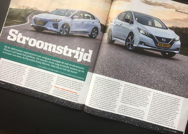 Test Autovisie: Hyundai IONIQ Electric wéér te sterk voor de Nissan Leaf