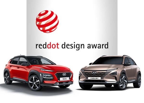 Red Dot Design Award 2018 voor Hyundai KONA en NEXO