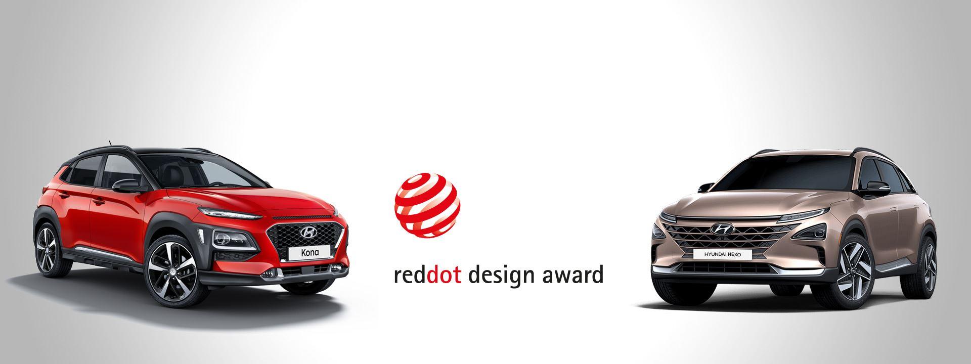 red dot design award 2018 voor hyundai kona en nexo. Black Bedroom Furniture Sets. Home Design Ideas