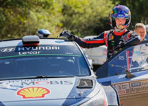Rallyrijders Hyundai jagen op hattrick