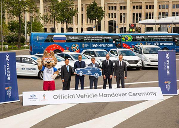 Hyundai levert 530 voertuigen aan organisatie WK voetbal