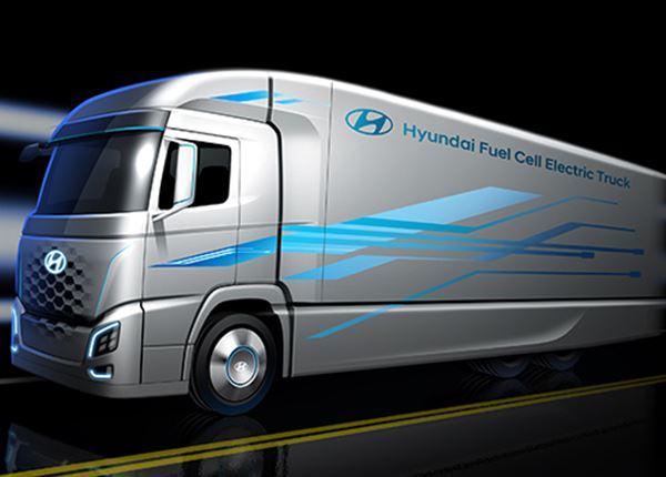 Hyundai toont elektrische vrachtwagen op waterstof