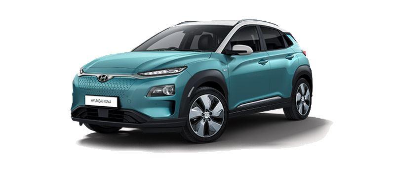 De Hyundai KONA Electric, de eerste compacte elektrische SUV in Europa, met een gunstige bijtelling voor zakelijk rijders.