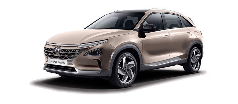 De elektrische auto met brandstofcel Hyundai NEXO, met een gunstige bijtelling voor zakelijk rijders.