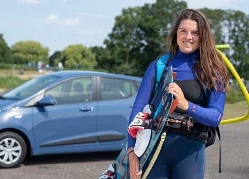 Kimberley Rijsbergen over haar i10: 'Al mijn kitesurfspullen passen erin!'