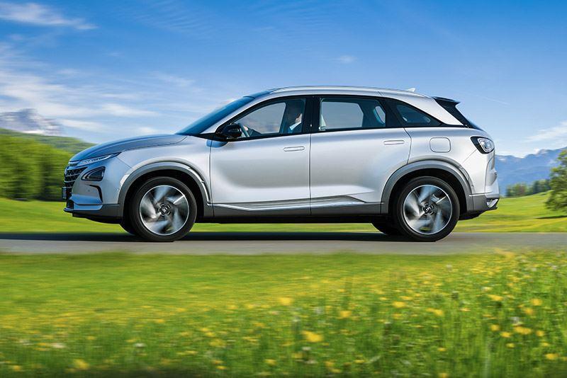 Hyundai loopt voorop als het gaat om waterstof-elektrisch aangedreven voertuigen. De waterstofauto NEXO is geheel emissievrij.