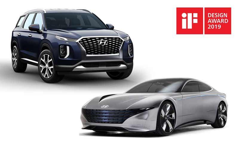 De Hyundai Palisade en de Hyundai concept car Le Fil Rouge.