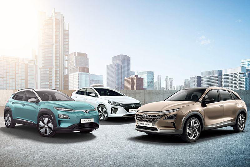 De elektrische range van Hyundai.
