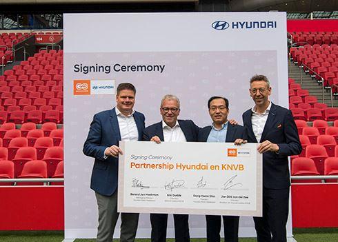 Hyundai nieuwe mobiliteitspartner KNVB