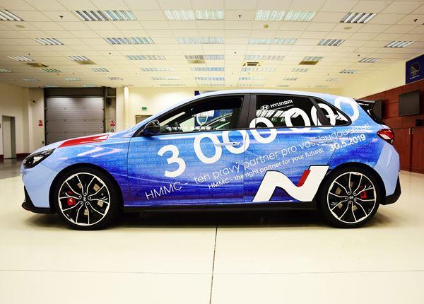 Al drie miljoen Hyundai's van de band in onze fabriek in Tsjechië