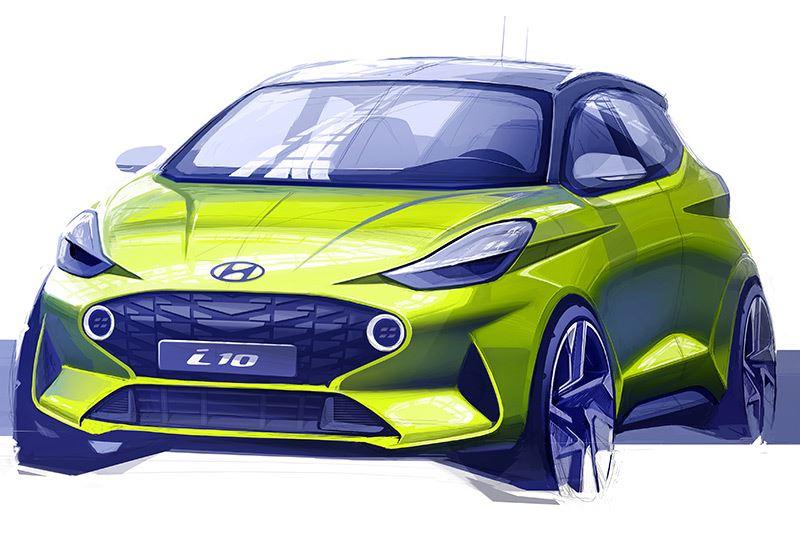De nieuwe Hyundai i10 valt op door zijn verrassende, gloednieuwe vormgeving.