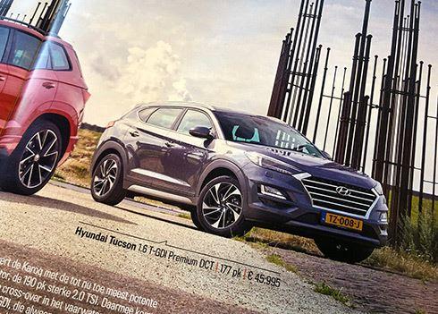 Hyundai Tucson verslaat Skoda Karoq in Dubbeltest Autoweek