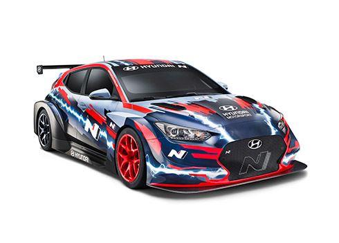 Elektrische raceauto Veloster N ETCR in toerwagenkampioenschap